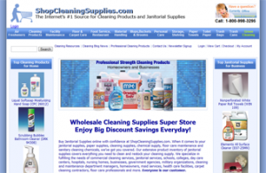ShopCleaningSupplies.com Web Design and SEO Search Engine Optimization Project