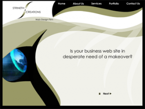 Strineth Creations Adobe Flash Web Design Project: Custom Flash website portfolio